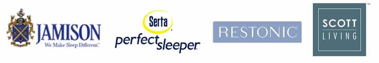 Serta, Jamison, Restonic & Scott Living mattresses