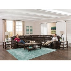 Bergamo Leather Reclining Sectional by Catnapper