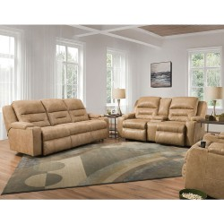 Beacon Power Reclining Group in Leather
