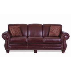 The Burgundy Leather Sofa Collection