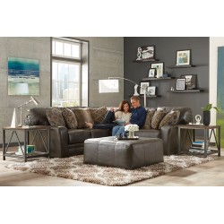 Denali Leather Sectional by Catnapper