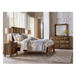 Maple Road Bedroom w/ Slat Bed (Amish Finish)