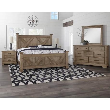 Cool Rustic Bedroom  (Stone Grey)