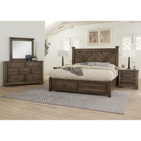 Cool Rustic Bedroom  (Mink)