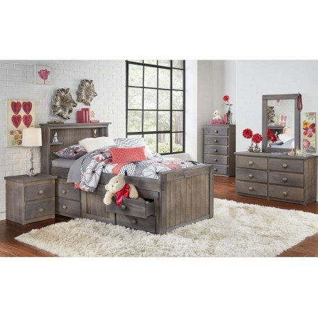 Twin Bookcase Captain's Bed (296)